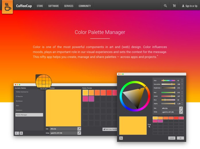 color palette manager