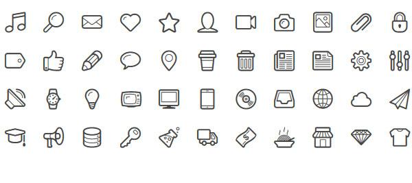 Lineicons icon webfont