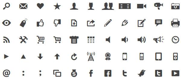 Modern Pictograms icon webfont