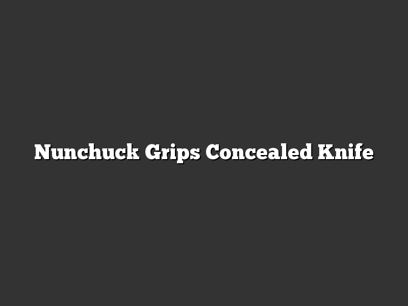 Nunchuck Grips Concealed Knife