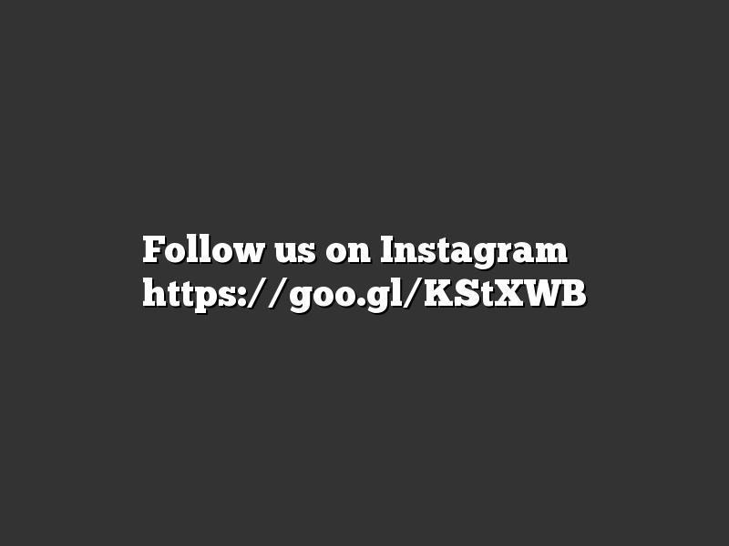 Follow us on Instagram ➡ https://goo.gl/KStXWB