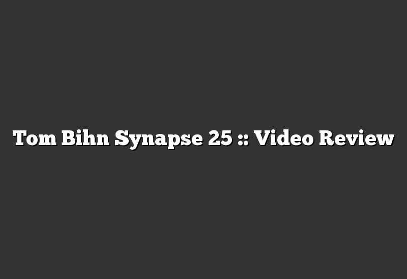 Tom Bihn Synapse 25 :: Video Review