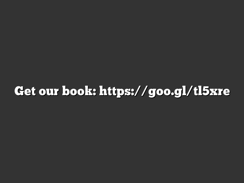 Get our book: https://goo.gl/tl5xre