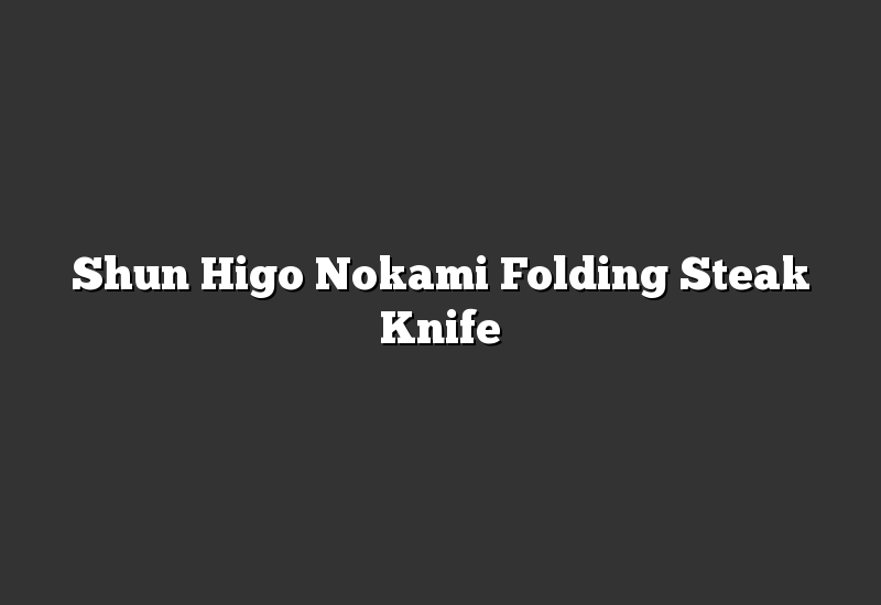 Shun Higo Nokami Folding Steak Knife