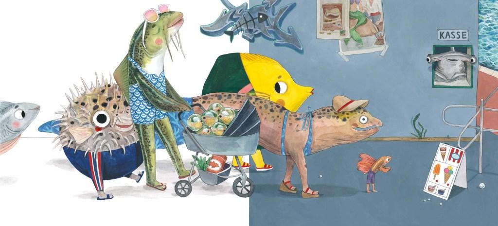 Hugo, der Fisch (erschienen bei Beltz&Gelberg), geschrieben von Daniel Fehr, illustriert von Lihie Jacob