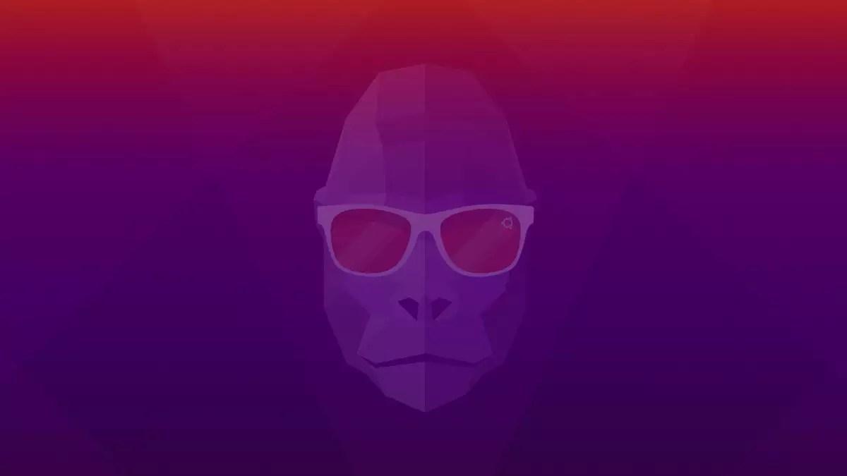 Plano de fundo oficial do Ubuntu 20.10