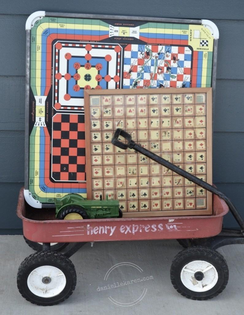 Vintage Games/John Deere Tractor/Wagon