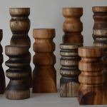 Naturally Stained Handmade Rustic Wood Candlesticks - TIMBERSTICKS
