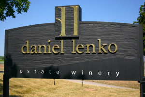 Daniel Lenko Estate Winery Sign