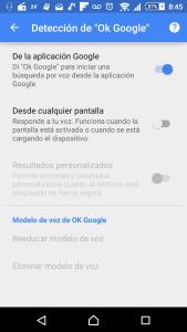 Configuración Ok Google