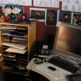 My messy office during production...