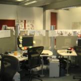 My desk at Ealing Studio.