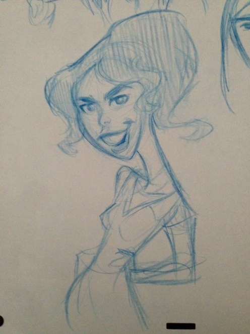 Caricature of Sarah Silverman, the voice of Vanellope.