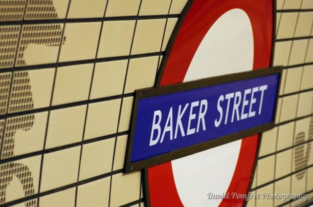 London Underground, Baker Street, Tube Station Sign, 8226