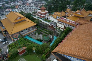 View from upper to lower part of Kek Lok Si Temple