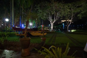 Dinner at riverside in Kuching