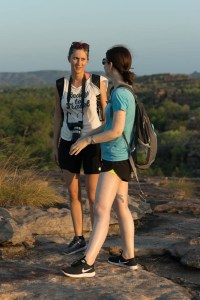 Ilinca and Pauline at Kakadu National Park