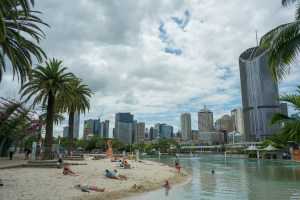 City Beach with Skyline of Brisbane