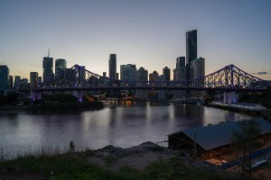 Skyline and Story Bridge in Brisbane