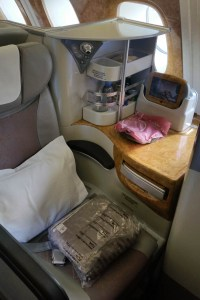 Emirate's Business Class Seat to Auckland