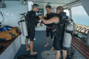 Dive Check at Great Barrier Reef