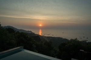 Sunset from Terrace in Koh Tao