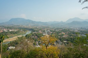 View from Pho Si in Luang Prabang