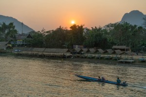 Sunset in Vang Vieng