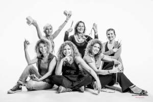 Una foto di gruppo creativa in Studio