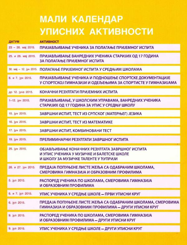 kalendar_upisnih_aktivnosti. 2015
