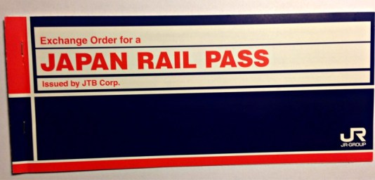 Voucher for Japan Rail Pass