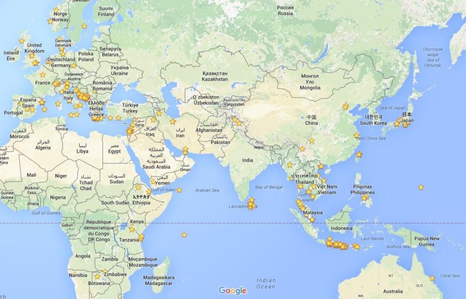 Stjernebillede på Google Maps