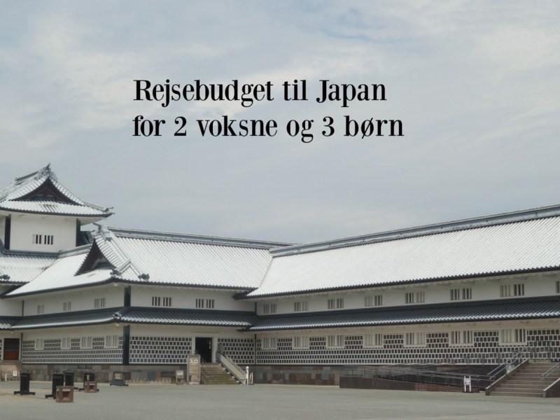 Rejsebudget til Japan for 2 voksne og 3 børn