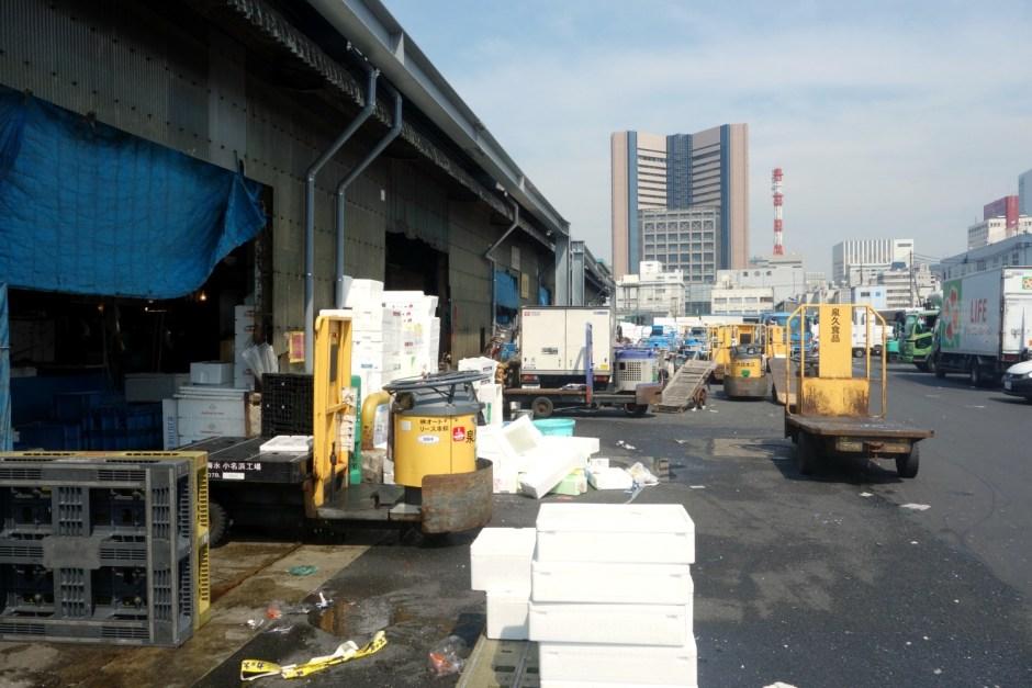 Tsukiji fiskemarkeds logistik