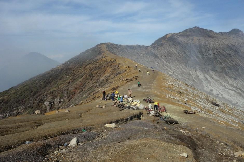 Det golde afsvedne plateau ved Mount ljen
