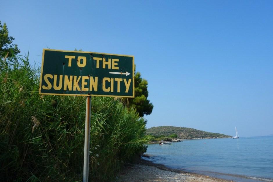 Sunken City i Ancient Epidavros