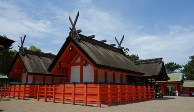 Det smukke tempel Sumiyoshi Taisha Shrine
