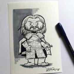 Inktober Ned Stark - Juego de tronos