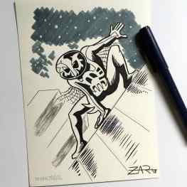 Inktober Spiderman 2099