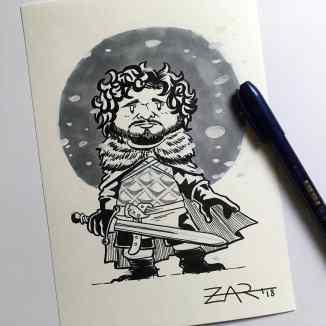 Inktober Robb Stark - Juego de tronos