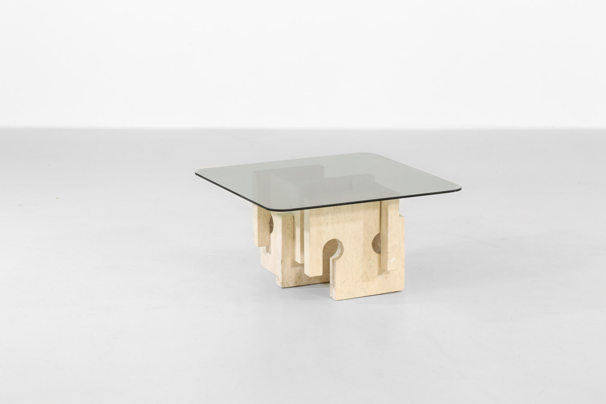 small side table in travertine vintage