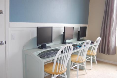 Triple Desk Wall Board