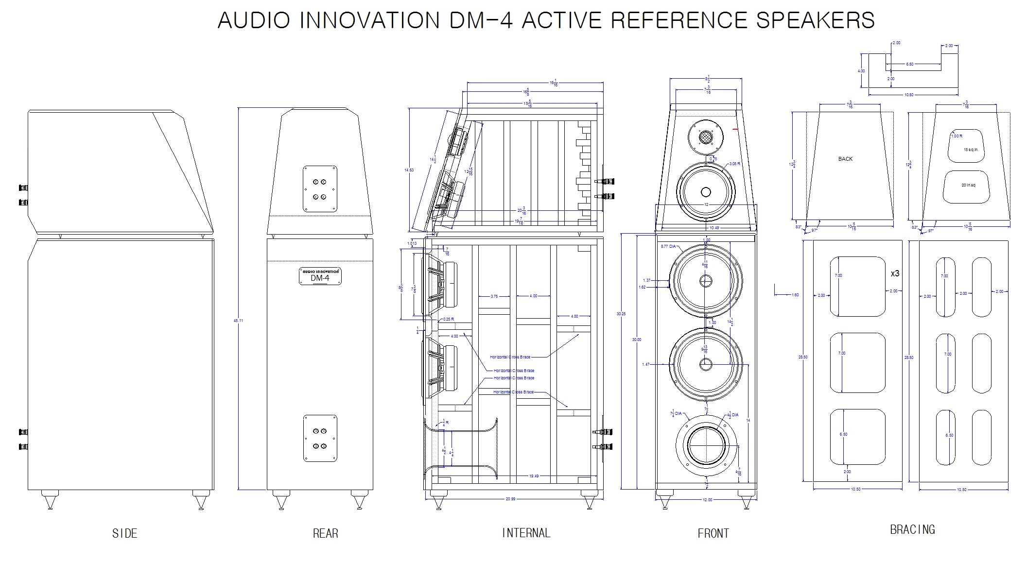 The Dm 4 Active Reference Series Speaker Project Has Begun