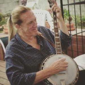 me on banjo on deck