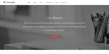 Home page mission statement