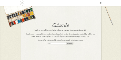 Customized newsletter subscription page