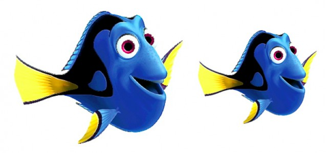 """""""Finding Dory"""" shall be released in November 2015. Will Dory be drawn smaller in body size by Pixar Animation Studios and Walt Disney Pictures, if compared to her appearance in 2003 blockbuster """"Finding Nemo""""?"""