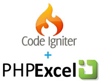 PHPExcel + CodeIgniter