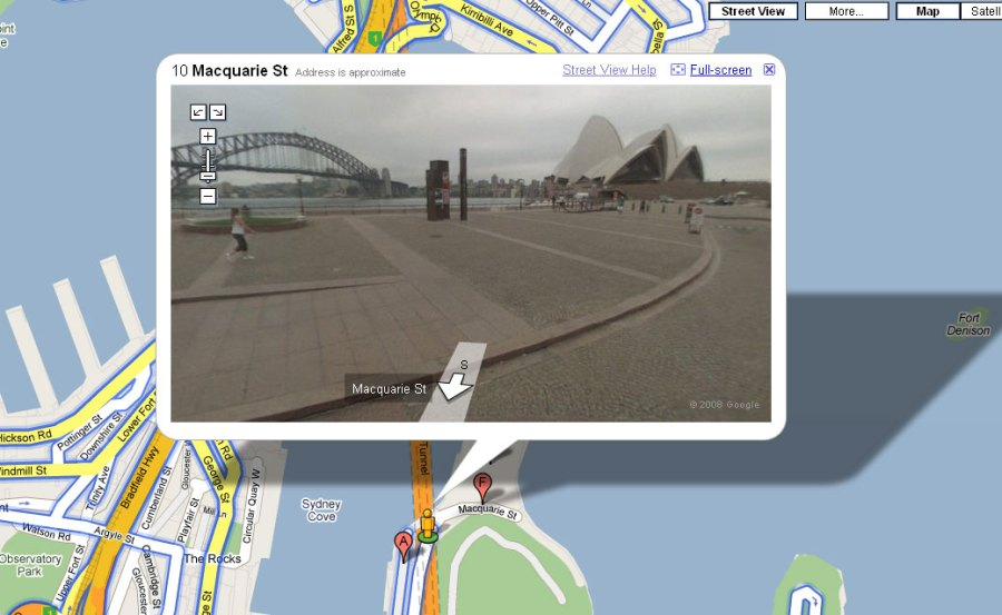 map google co nz streetview     google maps street view opera house