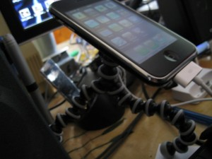 Gorillapod with iPhone Side